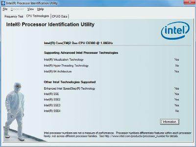 Экран 3. Intel Processor ID Utility